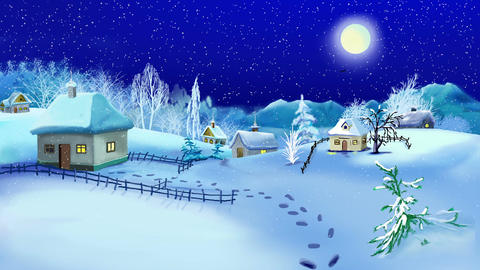 New Year and Christmas Background Animation
