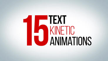 15 awesome kinetic text animations Motion Graphics Template