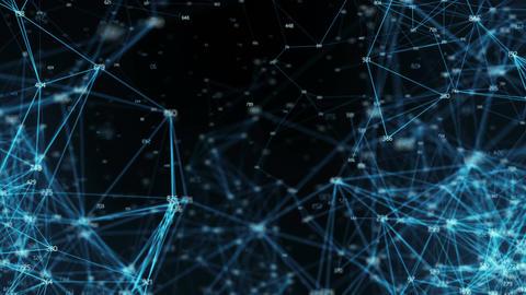 Abstract Motion Digital Polygon Random Digits Plexus Data Networks Alpha Matte Animation