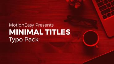 Minimal Titles Typo Pack After Effects Templates