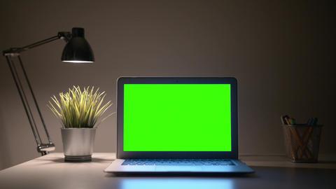 Laptop Green Screen Filmmaterial