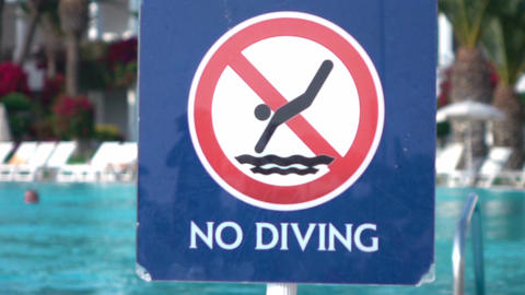 Video of no diving sign in real slow motion ビデオ