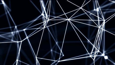 Looped Futuristic Technology Molecular Abstract Plexus Background Footage