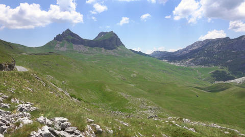 Landscape with mountains in Durmitor, Montenegro Footage