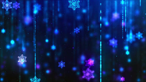 Snowflakes Blue Loop Background 애니메이션