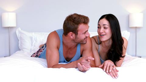Cute couple talking and laughing Footage