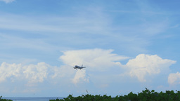 Airbus 320 approaching before landing at Phuket airport Footage