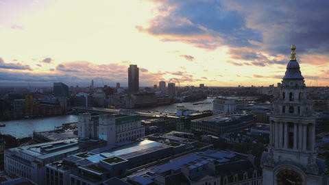 Dramatic sky over London Live Action