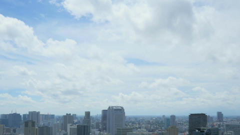 Time lapse view of Tokyo's heavily populated central area shot from the top of W Footage