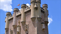 The Spanish Castle Alcazar Of Segovia, In Castilla And Leon, Spain Footage