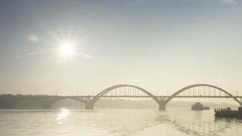 Time Lapse,Sunrise,Rybinsk,1080p,Full hd Footage