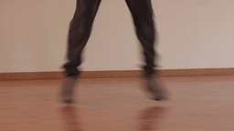 Freestyle dancing legs in studio Footage