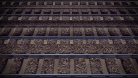 Looping Train Track Journey stock footage