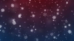 Snowflakes slowly rotatin and falling down, loopable snowfall on dark colors Animation