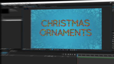 Christmas Ornament Letters After Effects Templates