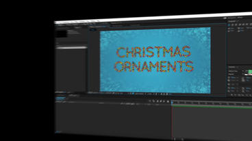 Christmas Ornament Letters After Effects Template