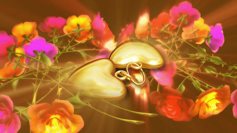 Beauty of gold heart Filmmaterial