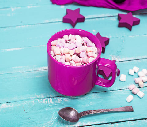 hot chocolate with marshmallow フォト