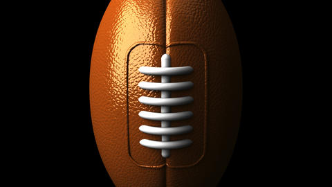 Rugby Ball On Black Background CG動画