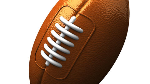 Rugby Ball On White Background CG動画