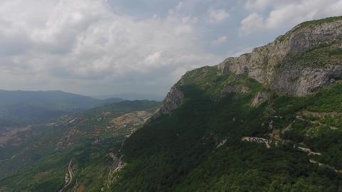 Ostrog Monastery church in mountains Montenegro Footage
