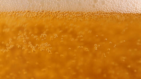 Beer With Bubbles And Foam In A Glass Footage