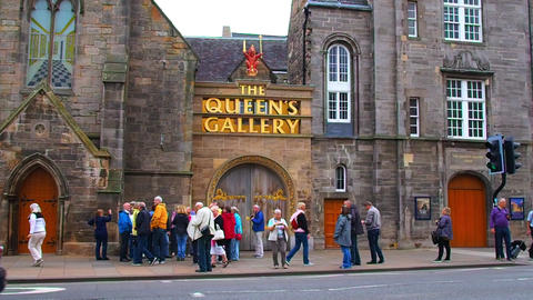 entrance to The Queen's Gallery, Scotland Footage