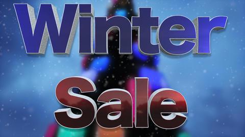 Winter Sale Background Loop Footage
