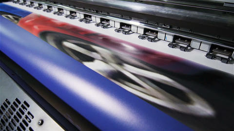 Macro Industrial Printer Prints Presentation Graphics Material Footage