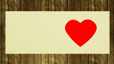 Congratulates Valentines Day. Greeting card open and wish... Stock Video Footage