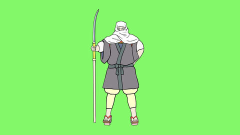Fighting monk 1 CG動画素材