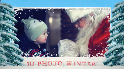 3d photo winter After Effects Template