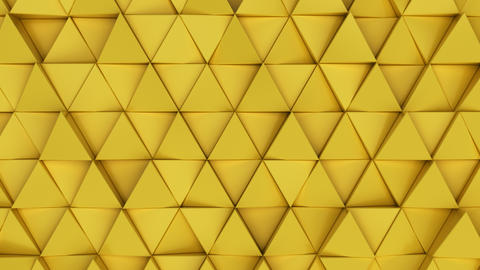 Pattern of yellow triangle prisms Photo