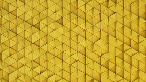 Pattern of yellow triangle prisms フォト