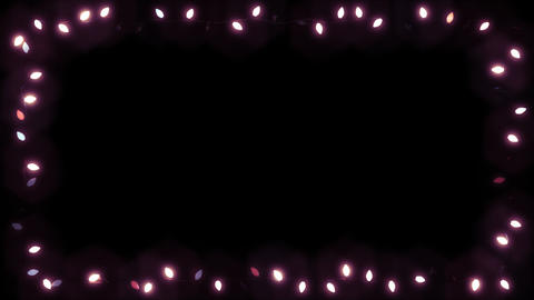 Christsmas Light Frame Garland Bulb - Pink Color CG動画