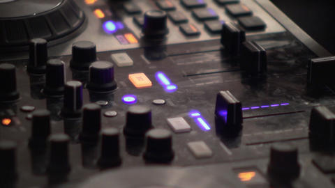 Dj mixes at the mixer at a music contest 87 Live Action