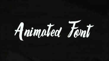 Cursive Animated Font Apple Motion Template