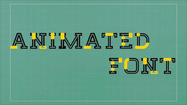 Fun and Funky Animated Font Apple Motion Template