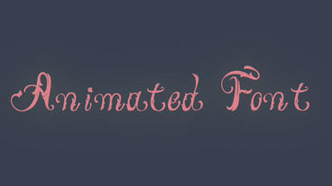 Victorian Animated Font Apple Motion Template