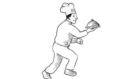 Chef Cook Running Delivering Food 2D Animation Animation