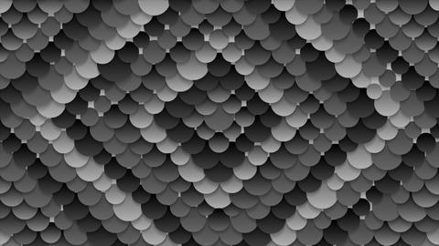 Dark grey circles pattern video animation CG動画素材