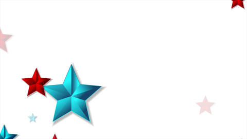Red and blue shiny stars abstract video animation Animation