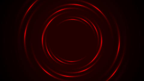 Shiny glowing dark red circles video animation Animation