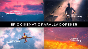 Epic Cinematic Parallax Opener After Effects Template