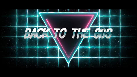 Back to the 80s Background Animation