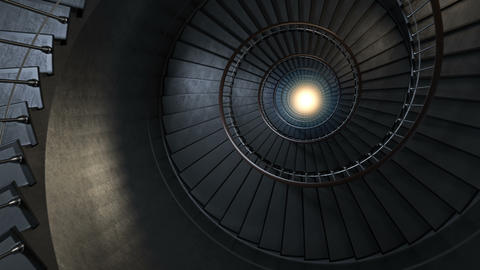 Round spiral staircase Animation