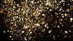 Beautiful Golden Bokeh Particles in Alpha Channel Live Action