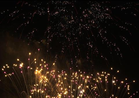 Fireworks celebrate background Fotografía