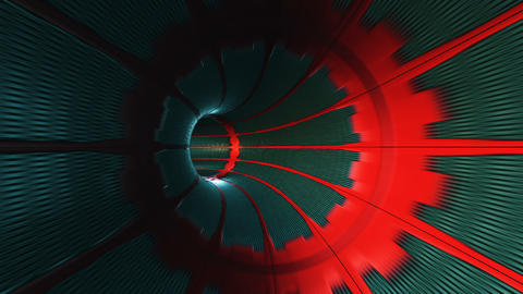 Abstract looped background with animation of flight in sci-fi tunnel with CG動画素材