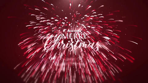 Christmas Particles logo reveal After Effects Template